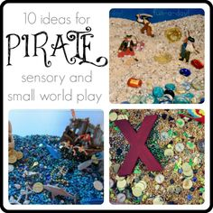sensory and small world play for a preschool pirate theme