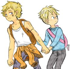 """""""Butters, pack your shit up.  We're gettin' out of this fuckin' town.""""  I can imagine Kenny just getting so fed up with South Park that he asks Butters to run away with him. (by remonraimu on tumblr)"""
