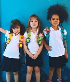SquidPacks add the perfect touch of color to school uniforms! #SquidPacks #TeamSQUID #bookbags #schooluniforms #backpacks #customizable #colorful