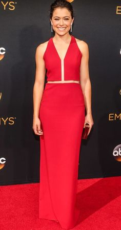 Tatiana Maslany in Alexander Wang attends the 68th Annual Primetime Emmy Awards at Microsoft Theater on September 18, 2016 in Los Angeles, California.