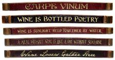 Lettered Wine Barrel Staves  #wine