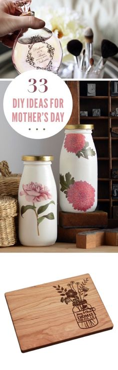 DIY Mother's Day Gift Ideas   Adorable ways to say I love you this Mother's Day. From personalized jewelry DIYs, rustic mason jar vases, custom photo ideas to decor craft ideas.