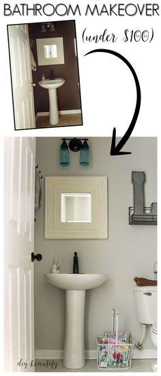 Bathroom Makeover on a Budget | diy beautify