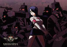Skullgirls-Parasoul by froggiechan on DeviantArt
