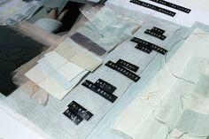 Fashion Sketchbook – fabric sample pages; layout inspiration; fashion portfolio // Jessica Leigh Haughton