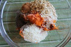 Sweet potato cookie ingredients.