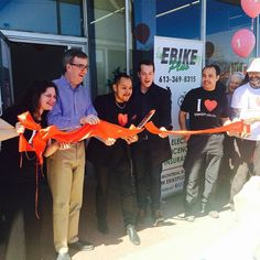 Instagram picutre by @ebikeplus: Very exciting moment at Ebike Plus at the Ribbon Cutting Ceremony. Special thank you to Ottawa Mayor Jim Watson and City Councillor Mathieu Fleury for bring joy to the day ! We appreciate  the support from Ottawa Special  Events Fiesta Balloons A Cuppa Soup combo band and everyone in our ebike community who made this event a success!  #ottawaebikes #escooter #ebike #ribboncutting #alfonsocuadra #greenbikes #funebike #funbikeride #funbikeday #jimwatsonottawa…