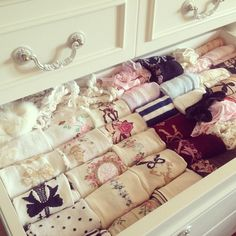 Perfect sock organization! So pretty too!