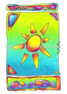 Greeting Card - Window Sun
