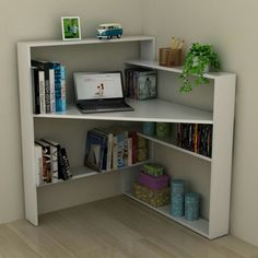 home decor - 23 DIY Corner Desk Ideas To Maximize Your Space Space Saving Furniture, Furniture Decor, Furniture Design, Furniture Storage, Small Furniture, Plywood Furniture, Studio Furniture, Furniture Outlet, Furniture Projects