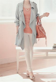 Sweet look Korean Style Fashion ^.^ Love the color combinations!