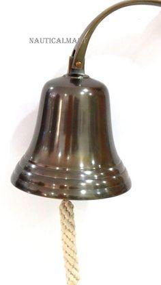 Aluminum Antique Finish Nautical Ship Bell - Dark Antique