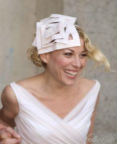 One of the most beautiful piece of millinery crafted by Italian milliner Gallia e Peter