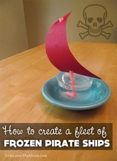 Ice Pirate Ship Craft for Kids from Camp Sunny Patch