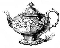 Free Vintage Clip Art – 2 Ornate Teapots http://thegraphicsfairy.com/free-vintage-clip-art-2-ornate-teapots/