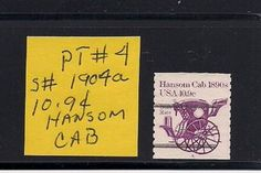 New listing at dandeonestamps..  This is a hard to find PNC (Plate Number Coil) stamp issued in the early 1980's It's part of the Transportation series, some of my favorites..  Cheers,  Dave