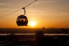 Seize the day, seize the dusk. Greenwich Peninsula, Sky Ride, Seize The Days, Ski Lift, London Travel, London England, Empire State Building, Dusk, Skiing