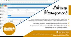Library management systems help libraries keep track of the books and their checkouts, as well as members' subscriptions and profiles. This helps to keep the records of whole transactions of the books available.