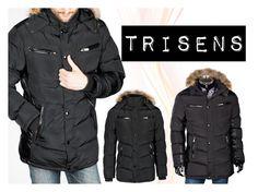 """Herren Winterjacke"" by trisens ❤ liked on Polyvore featuring men's fashion, menswear, Winter, Herrenjacke and trisens"
