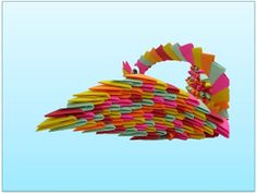 3D origami Rainebow swan 1 by CathyTsao on Etsy, $15.00