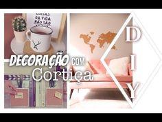 (4) DIY : DECORAÇÃO COM CORTIÇA mural, apoiador de livro de caneca por dicadaka - YouTube