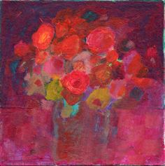 Original acrylic painting by Imogen Skelley Rich colours and stunning blooms fill this painting