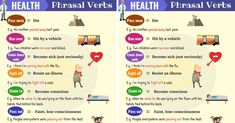 List of useful health phrasal verbs in English with their meaning and examples. Learn these common phrasal verbs for health, fitness, sickness and death with ESL picture to increase your English vocabulary. Vocabulary List, English Vocabulary, Break Out Meaning, Phrasal Verbs With Meaning, Apple Health, Gyms Near Me, English Verbs, Passed Away, Idioms