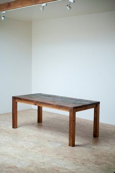 Beautiful Modern Dining Table/ Reclaimed Wood...so simple, and could account for extra counter space as well