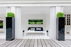 Fiberstone by Pottery Pots Pottery Pots, Terrace Design, Interior Decorating, Interior Design, Living Styles, Outdoor Living, Outdoor Decor, Beautiful Interiors, Terrazzo