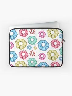 'Colorful 8 Scrunchies Pack ' Laptop Sleeve by AElenaS Scrunchies, Laptop Sleeves, Zip Around Wallet, Packing, Phone Cases, Colorful, Stuff To Buy, Bag Packaging, Phone Case