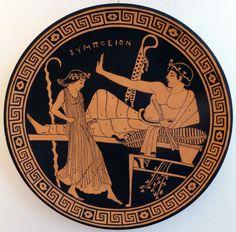Ancient greek pottery art copy.Piatto decorativo. antica Grecia copia da originale.
