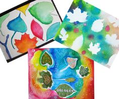 3 Summer Art Projects for kids using Leaves