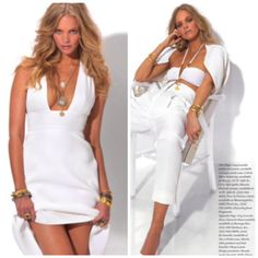LOVE these shots from Daily Front Row's Hamptons Edition Magazine, featuring my jewelry! Gold jewelry with a white outfit is one of my favorite looks...