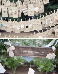 I die for these name cards. So creative and fun!