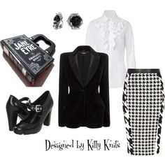 """""""Jane Eyre at Work"""" by kittyknits on Polyvore"""