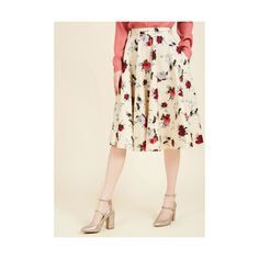 Vintage Inspired Long Full Perfectly Put Together Midi Skirt (3.555 RUB) ❤ liked on Polyvore featuring skirts, apparel, bottoms, cream, full skirt, high-waisted flared skirts, long skirts, high waisted long skirt, high waisted midi skirt and white skater skirt