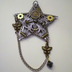 steampunk ornaments | Gold Chains Jewelry - - Steampunk Star Christmas tree ornament