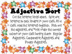 adjective activies