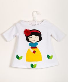 snowhite-beautiful handmade applique dress for winter and spring time