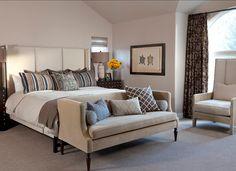 Bedroom. Bedroom Design. #BedroomDesign #NeutralBedroom Ashley Campbell Interior Design.