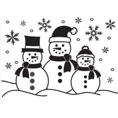 Darice® Embossing Folder - Three Snowmen - 4.25 x 5.75