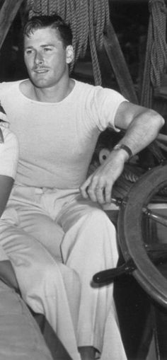 Errol Flynn - on his 118' yacht Zaca