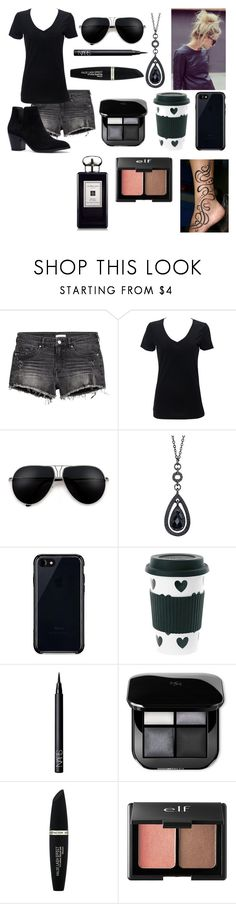 """""""dark style"""" by annabethjames ❤ liked on Polyvore featuring Simplex Apparel, 1928, Belkin, Miss Étoile, NARS Cosmetics, Max Factor, Charlotte Russe and Jo Malone"""