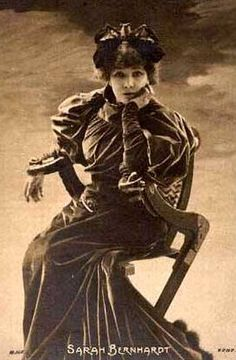 An 1890's image of French actress, Sarah Bernhardt, (1844-1923). She was known…