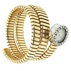 Shop luxury and designer wrist watches and other gold antique and vintage watches from the world's best jewelry dealers. Diamond Bracelets, Bangle Bracelets, Bangles, Bvlgari Gold, Bvlgari Watches, Italian Jewelry, Watches For Men, Wrist Watches, Vintage Watches