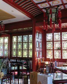 ღღ The impressive interior of the Chinese teahouse in Berlin, where you can even take part in a traditional tea ceremony. ~~~ Click on the Pin to find the info