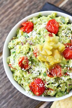 Green Chile and Roasted Tomato Guacamole Recipe LOVE this guacamole!
