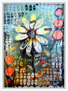 Marlene uses @balzerdesigns Stones Divided #TCW444 to create this mixed media canvas www.artbymarlene.nl | STEP-BY-STEP MIXED MEDIA TUTORIAL