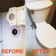 Toilet installation in #UpperMarlboroMD #plumbing #indoorprojects #beforeandafter #bathrooms #mrhandyman3908