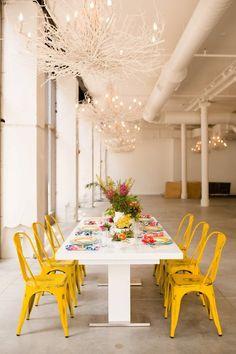 Colorful tablescape